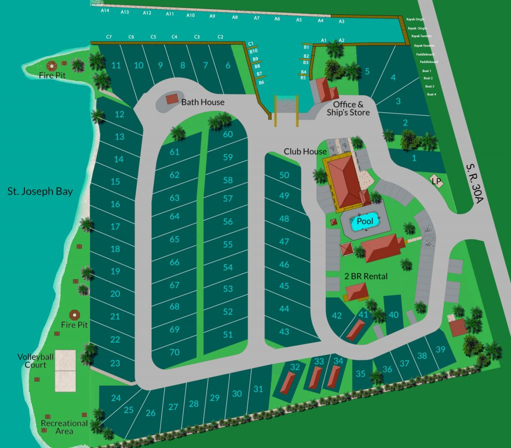 St Joe Florida Map.Property Map Presnell S Marina Rv Resort