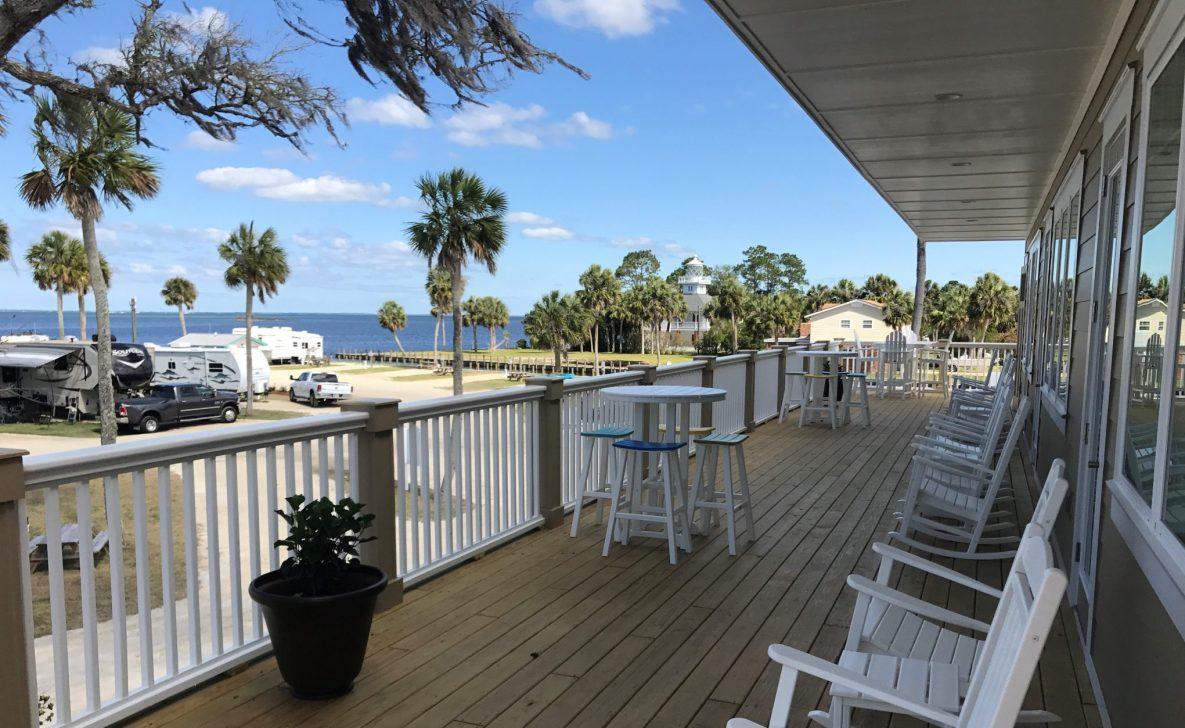 florida clubhouse deck rv joe port gulf fl coast resort marina